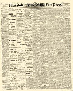 Winnipeg Free Press, July 21, 1881, Page 1
