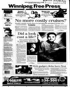 Winnipeg Free Press, February 15, 2001, Page 2