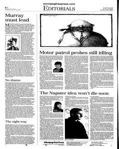 Winnipeg Free Press, February 15, 2001, Page 14