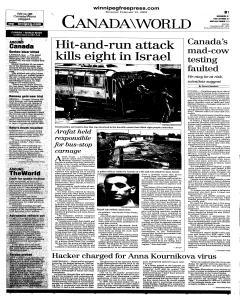 Winnipeg Free Press, February 15, 2001, Page 18