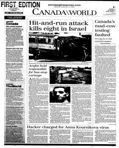 Winnipeg Free Press, February 15, 2001, Page 19