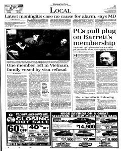 Winnipeg Free Press, February 15, 2001, Page 4