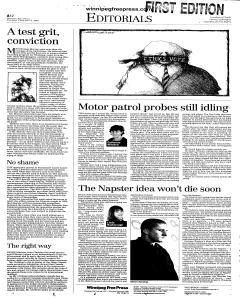 Winnipeg Free Press, February 15, 2001, Page 15