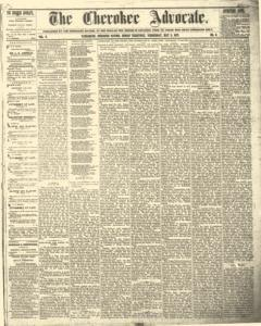 Cherokee Advocate Newspaper Archives May 2 1877
