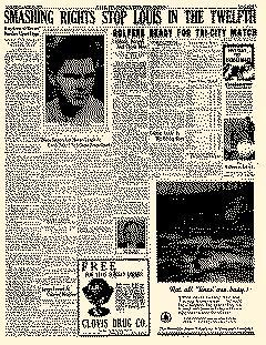 Clovis New Mexico Evening News Journal newspaper archives