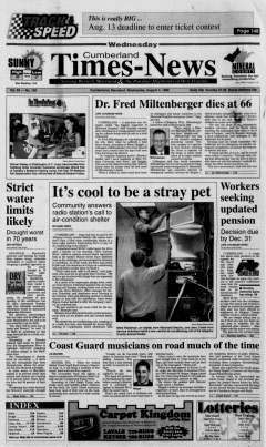 Cumberland Times News Newspaper Archives, Aug 4, 1999