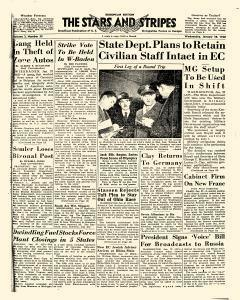 European Stars and Stripes, January 28, 1948, Page 1
