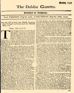 Dublin Gazette, May 24, 1737, Page 1