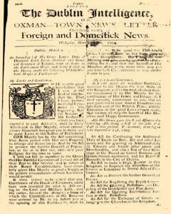Dublin Intelligence Or Oxman Town News Letter