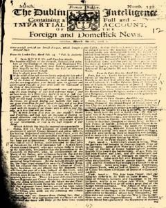 Dublin Intelligence, March 05, 1708, Page 1
