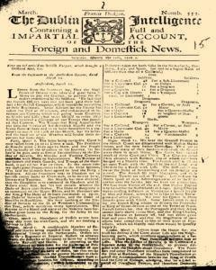 Dublin Intelligence, March 12, 1708, Page 1