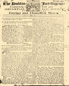 Dublin Intelligence, May 01, 1708, Page 1