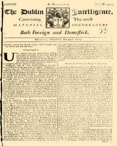 Dublin Intelligence, August 24, 1724, Page 1