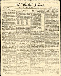 Dublin Journal, October 28, 1802, Page 1