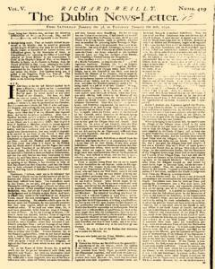 Dublin News Letter, January 03, 1740, Page 1