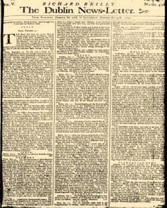 Dublin News Letter, January 27, 1740, Page 1