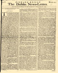 Dublin News Letter, February 21, 1740, Page 1