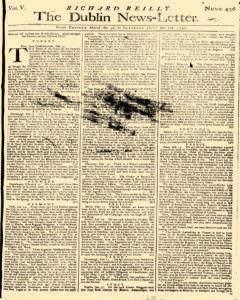 Dublin News Letter, March 03, 1740, Page 1