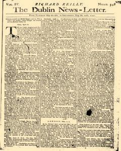 Dublin News Letter, May 06, 1740, Page 1