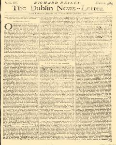 Dublin News Letter, July 01, 1740, Page 1