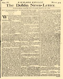 Dublin News Letter, August 02, 1740, Page 1