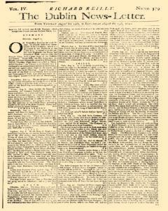 Dublin News Letter, August 19, 1740, Page 1