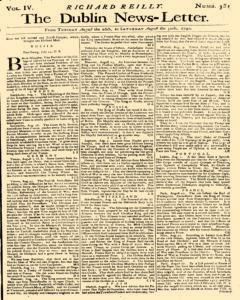 Dublin News Letter, August 26, 1740, Page 1