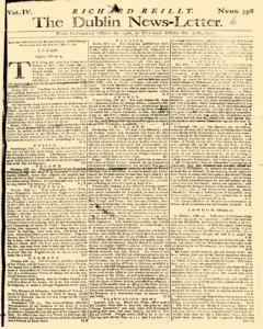 Dublin News Letter, October 25, 1740, Page 1