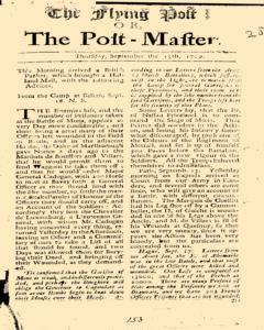 Flying Post, September 15, 1709, Page 1