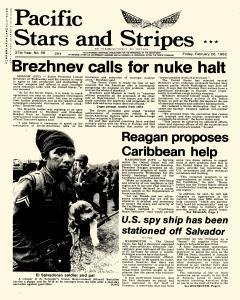 Pacific Stars and Stripes, February 26, 1982, Page 1