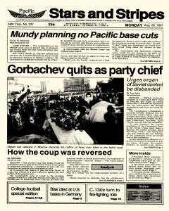 Pacific Stars And Stripes, August 26, 1991, Page 1