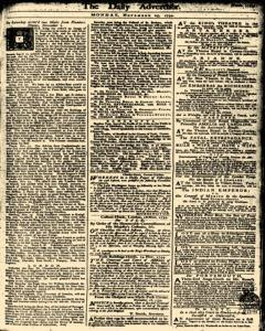 London Daily Advertiser newspaper archives