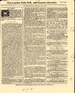 London Daily Post And General Advertiser newspaper archives