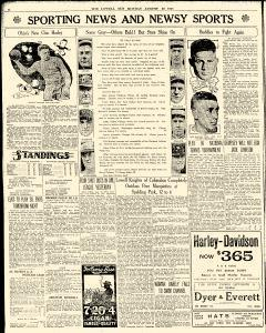lowell sun newspaper archives aug 22 1921 p 6