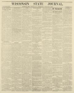 Madison Wisconsin State Journal Archives, Jan 26, 1870