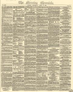 Morning Chronicle Newspaper Archives Apr 19 1849