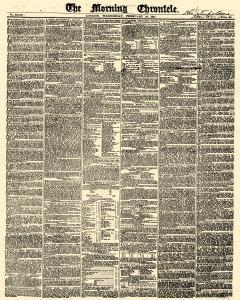 Morning Chronicle Newspaper Archives, Feb 10, 1841