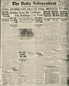 Murphysboro Daily Independent Archives, Oct 22, 1926