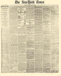 New York Times Newspaper Archives Mar 2 1866