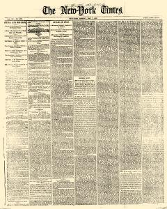 New York Times Newspaper Archives May 7 1866