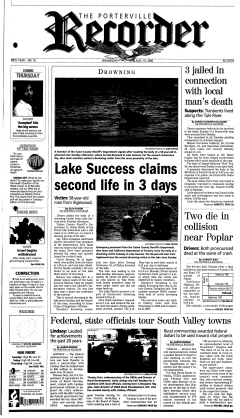Porterville Recorder Newspaper Archives, Aug 16, 2006