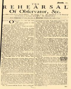 Rehearsal Of Observator newspaper archives