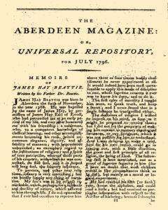 Aberdeen Magazine Or Universal Repository, July 01, 1796, Page 1