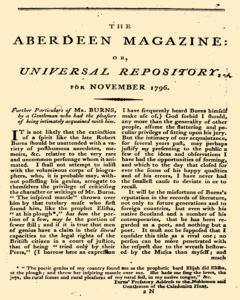 Aberdeen Magazine Or Universal Repository, November 01, 1796, Page 1