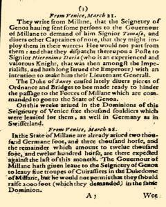 Abstract of Some Special Foreign Occurences, April 21, 1825, p. 4