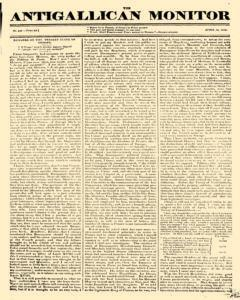 Anti Gallican Monitor, April 30, 1815, Page 1
