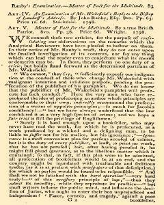 Anti Jacobin Review And Magazine, July 01, 1798, Page 93