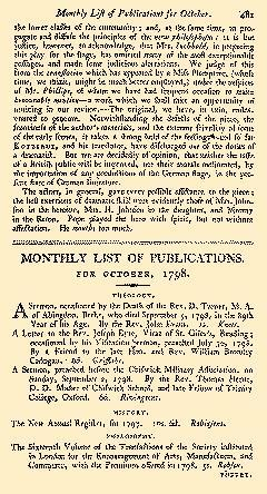 Anti Jacobin Review And Magazine, October 01, 1798, Page 101
