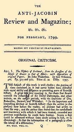 Anti Jacobin Review And Magazine, February 01, 1799, Page 1