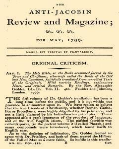 Anti Jacobin Review And Magazine, May 01, 1799, Page 1